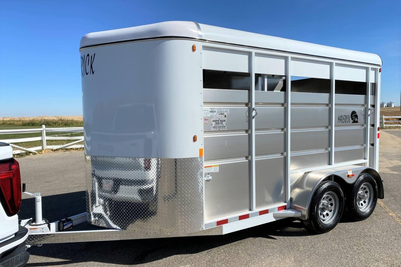 Maverick 2 Horse High Side Aluminum Bumper Pull