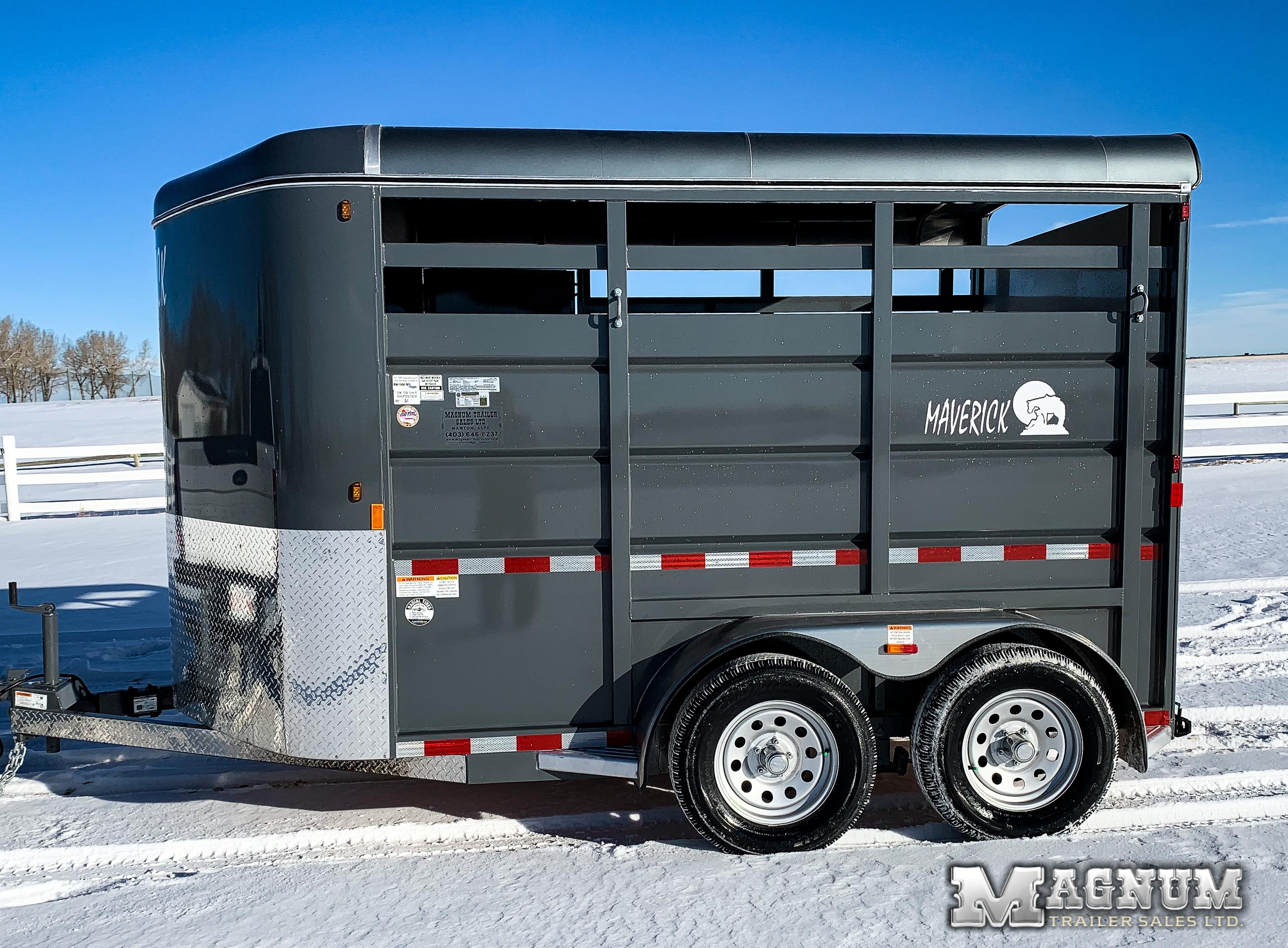 2021 Maverick 12′ Bumper Pull Mini Stock Full Rear Door