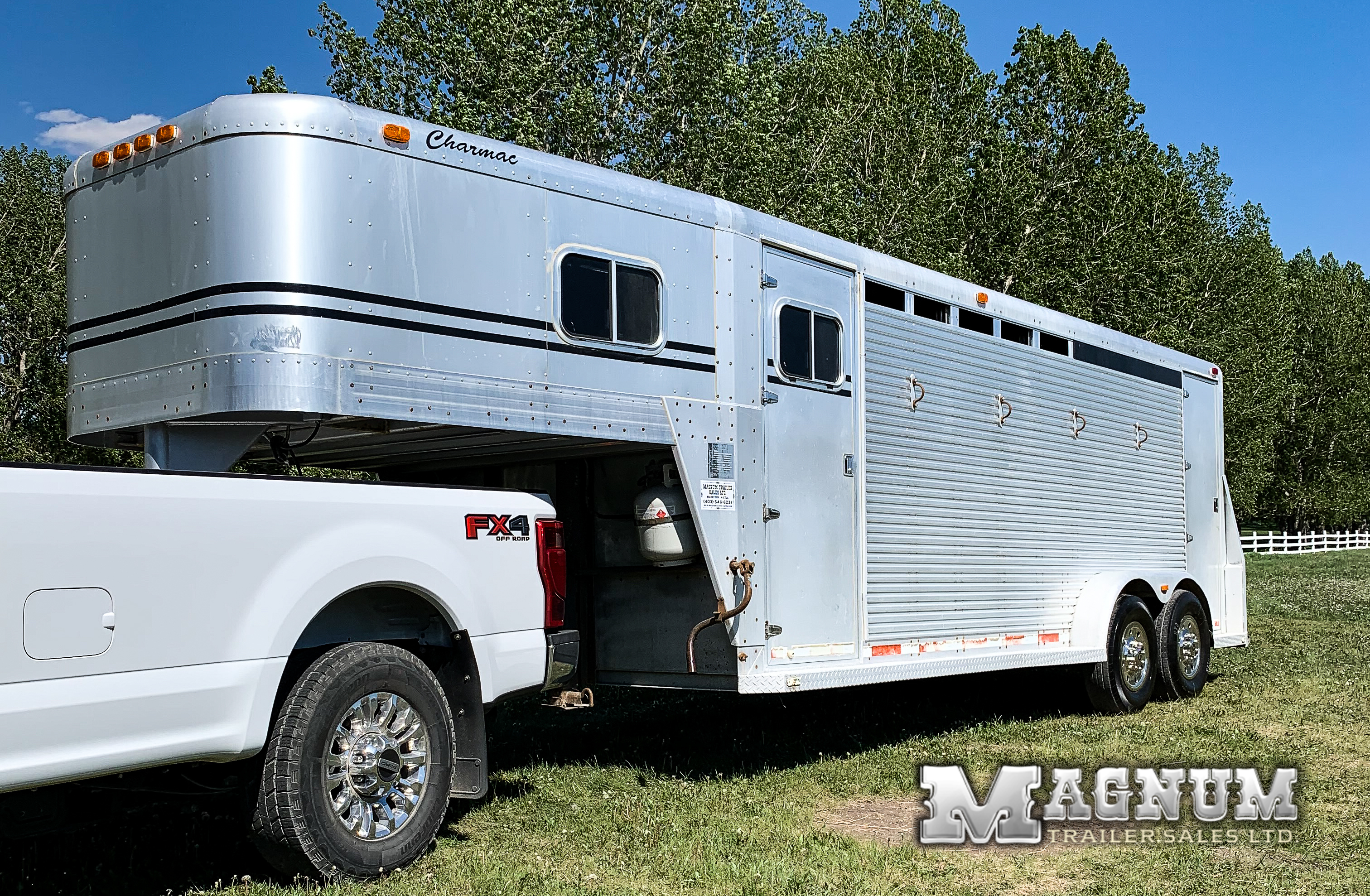 1994 Charmac Hock Riveted All Aluminum 4/5 Horse Stock Combo w/ Weekender Package