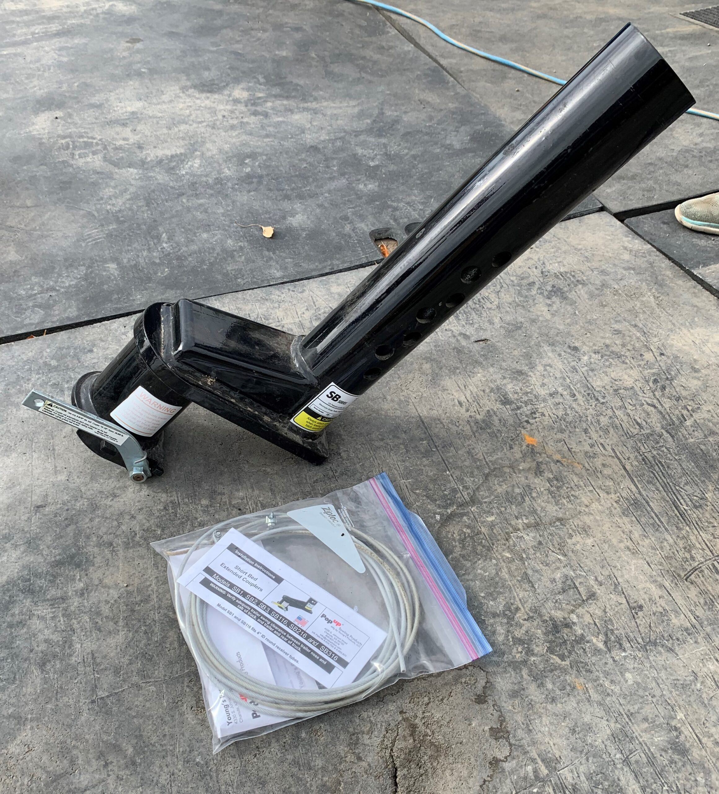 9″ Extend a Hitch w/ Quick Connect Lever and Cable